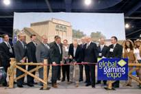 Cint Eastwood with Phil Satre, Chairman, American Gaming Association, at G2E's Opening Day Ribbon Cutting.